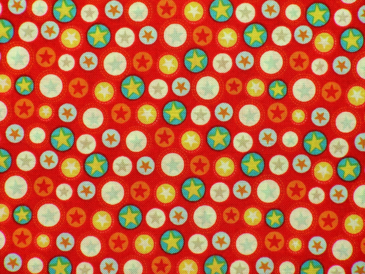 Kindergardinen Sterne Patchwork Fabrics Boy Crazy Stars Red Colourfull