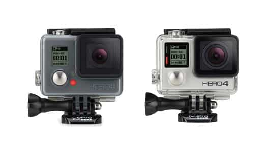 GoPro HERO PLUS LCD vs HERO4 Silver Detailed Comparison