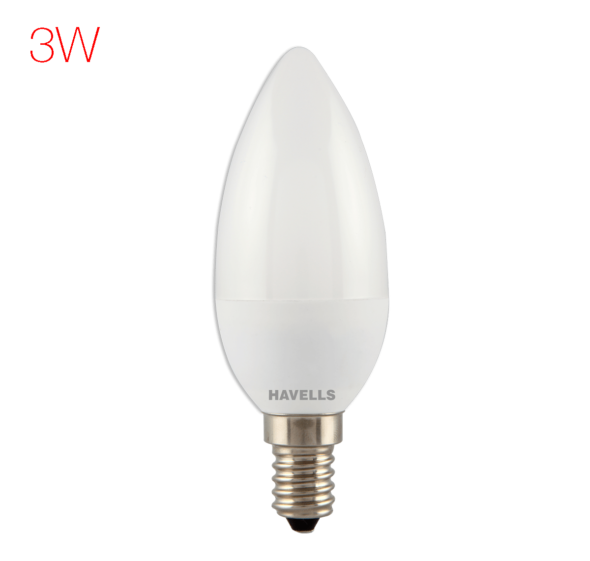 60 E14 Lumen Havells New Adore Led 3w Candle E14 Warm White Regular Led Lamp
