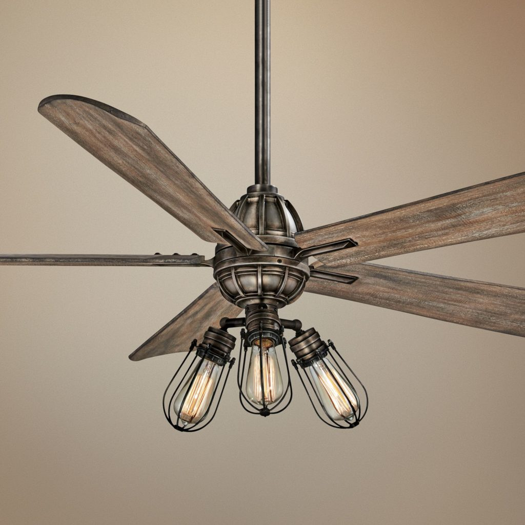 Industrial Style Ceiling Fans Trending For Summer Stylish Ceiling Fans By Minka Aire Available