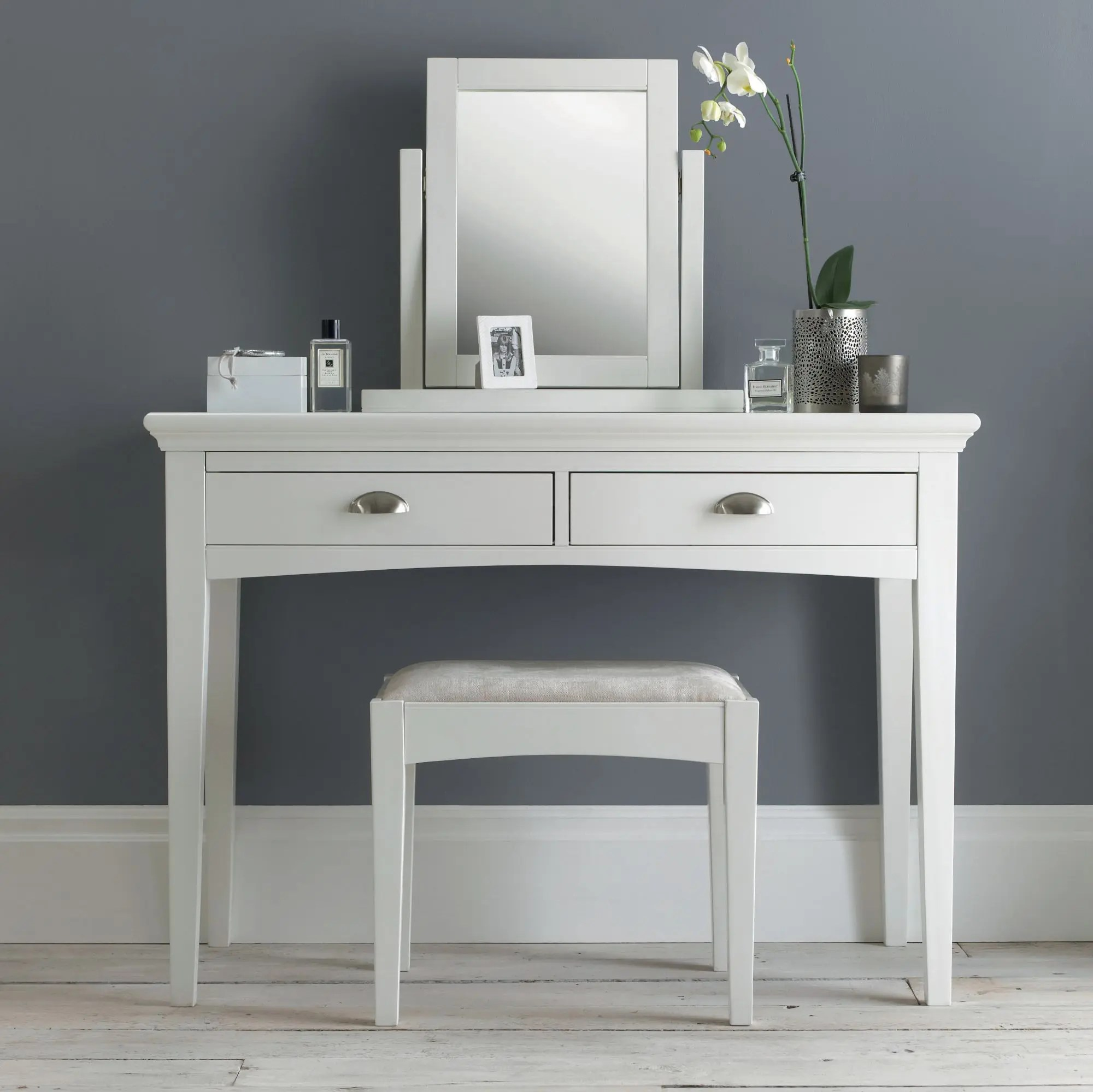 Vanity Table Hampstead White Dressing Table - Haven Furniture