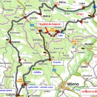 trasa cyklovýletu Kokořínskem