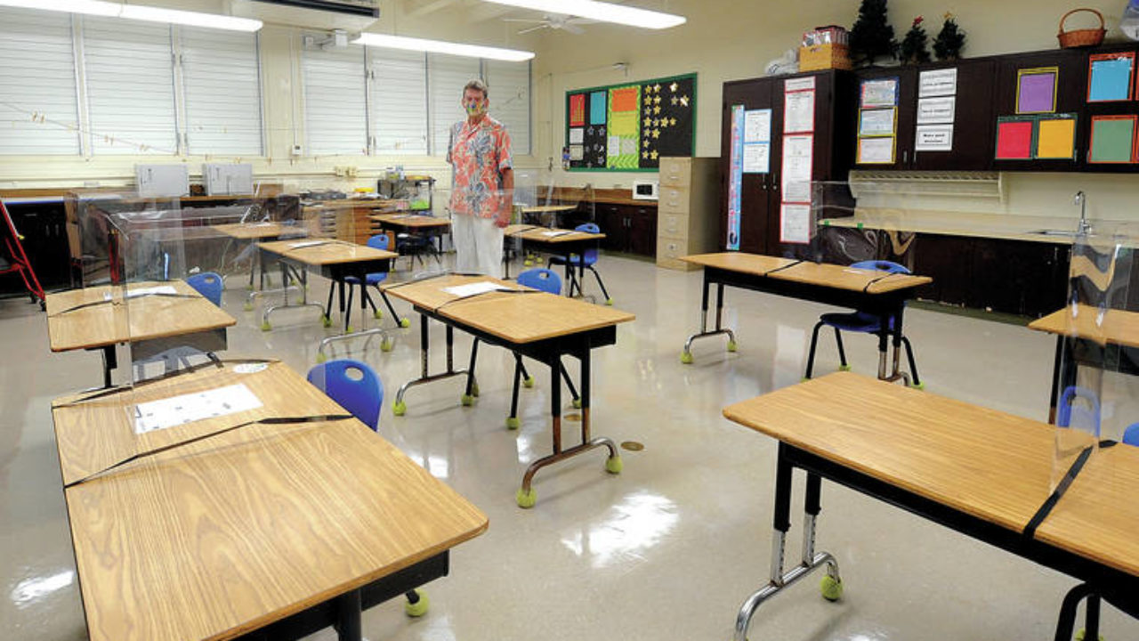 Kahakai Elementary School Secures Plastic Shields For Student And Teacher Desks Hawaii Tribune Herald