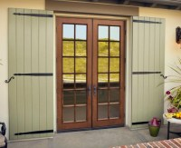 Fiberglass french doors exterior | Hawk Haven