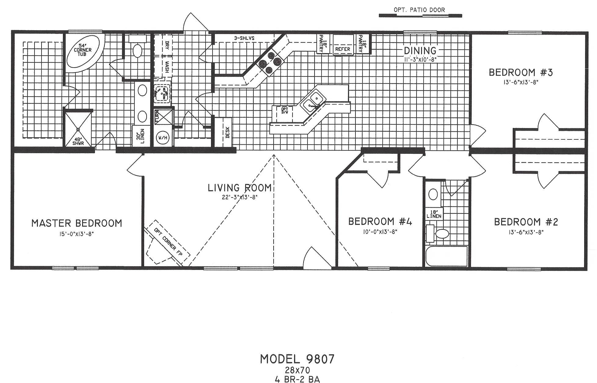 4 Bedroom Floor Plans Modular Home Modular Homes 4 Bedroom Floor Plans