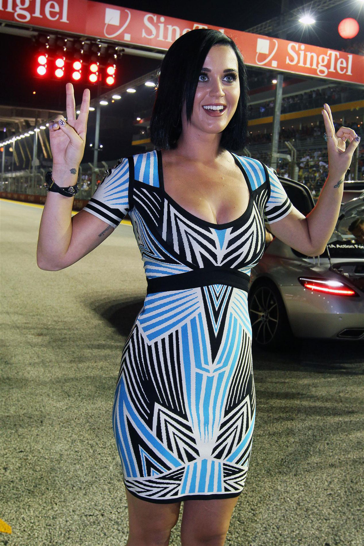 F1 Grand Prix Race Katy Perry At F1 Grand Prix Of Singapore At The Marina Bay