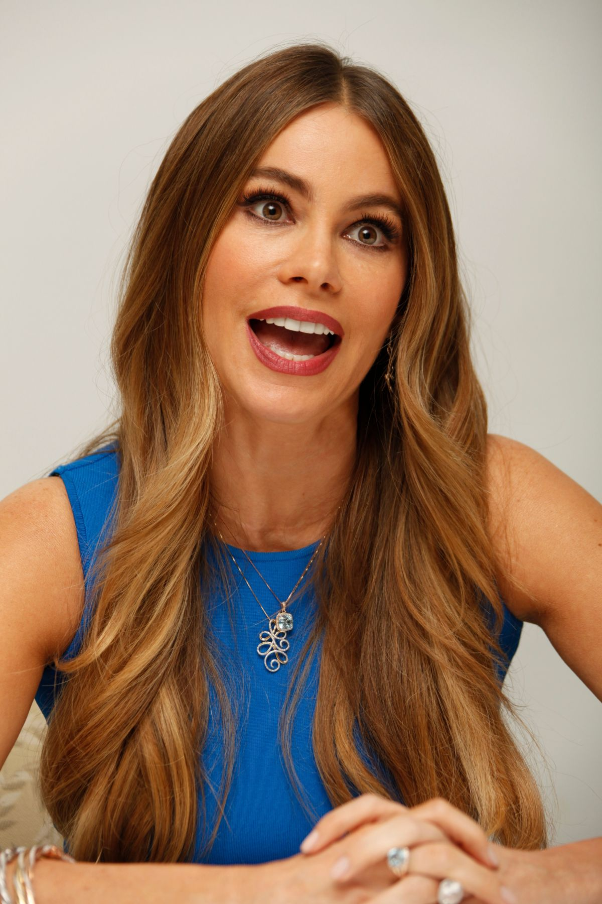 Sofia Vergara Hair Color Sofia Vergara At Hot Pursuit Press Conference In Beverly Hills