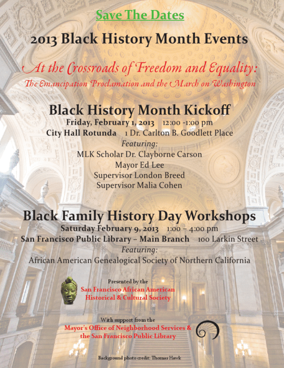 Black History Month Flier