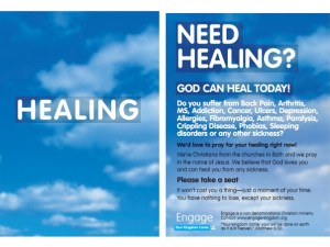 The original leaflet from 'Healing on the Streets' in Bath