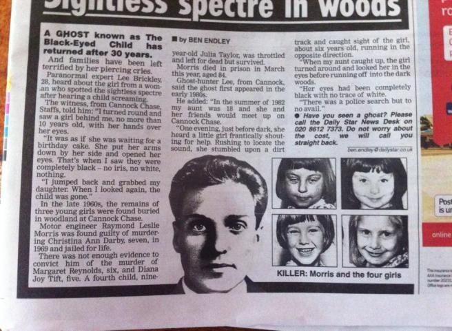 The paper shows photos of the murdered children