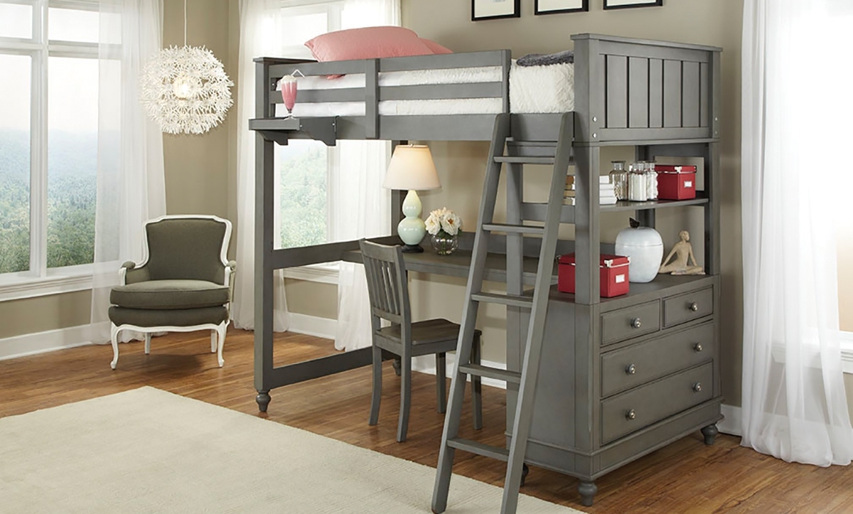 Doppelstockbett Mit Rutsche Haynes Furniture. Lakehouse Twin Loft Bed & Desk