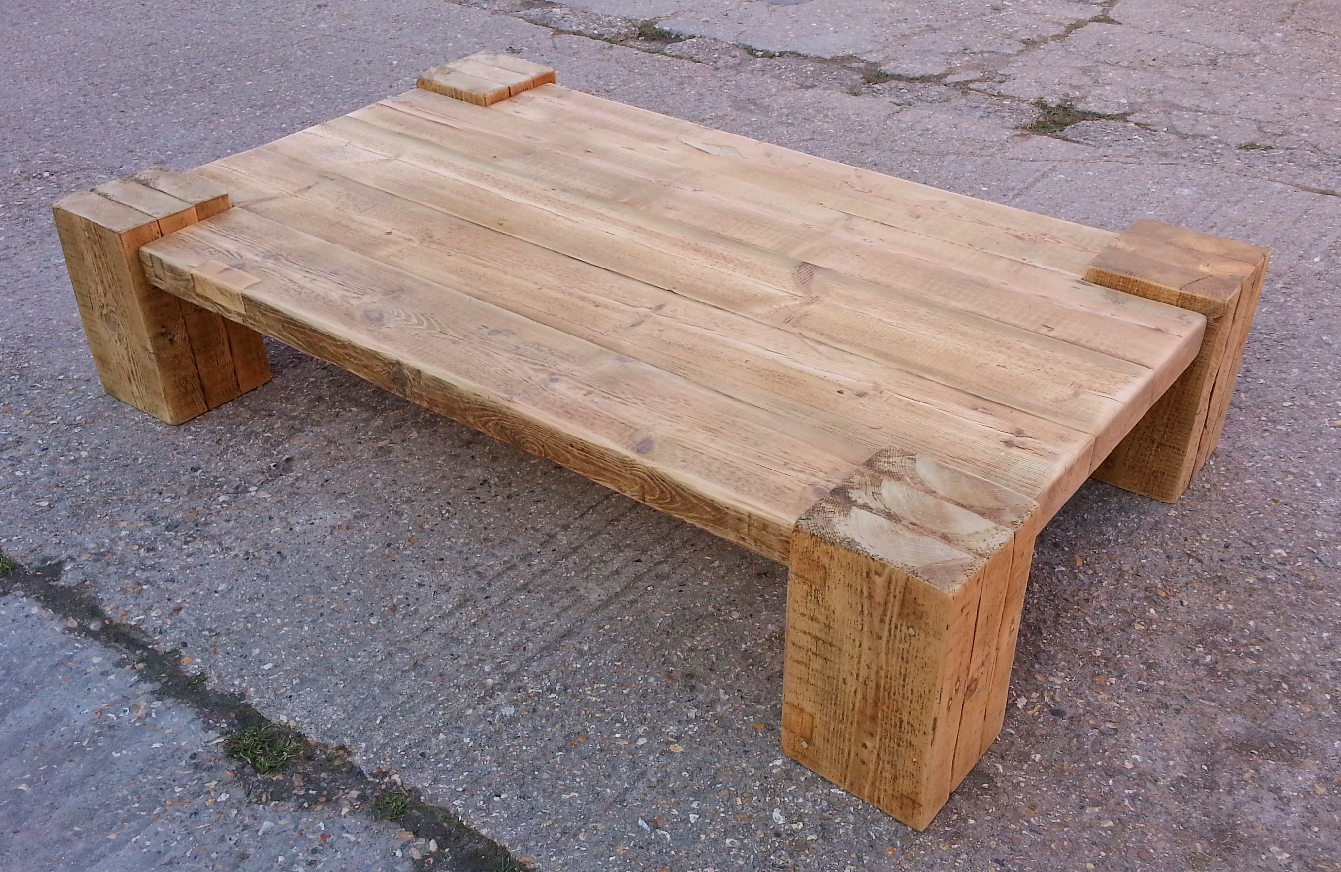 White And Timber Coffee Table Coffee Tables Reclaimed Timber And Character Oak