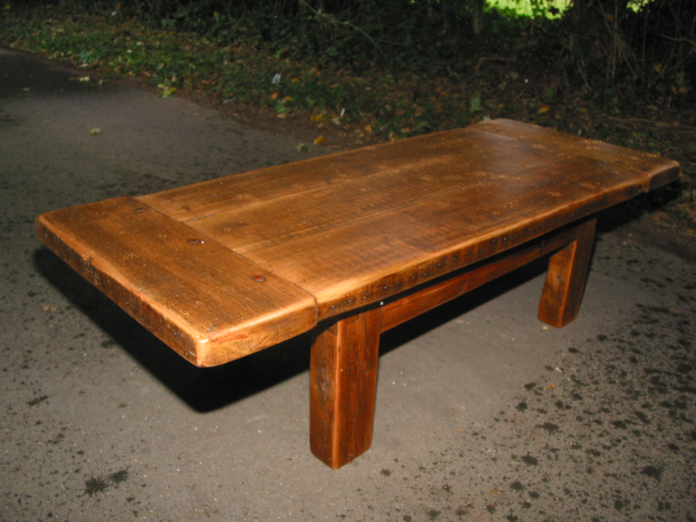 Solid Timber Coffee Table Coffee Tables Reclaimed Timber Character Oak