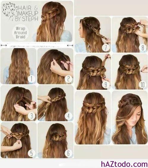 Cómo hacer peinados con trenzas paso a paso