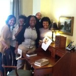 HBCU Buzz Staff Writer Nadejah Whitted with friends at the Gloucester Institute