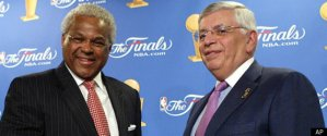 Billy Hunter (left) and David Stern (right) (Huffington Post)