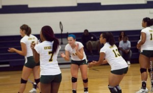 Kentucky State University Volleyball players (Steve Lockhart)