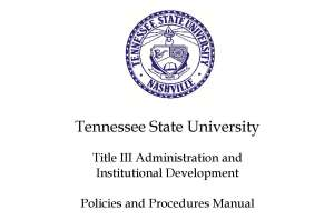 Title III of the Higher Education Act of 1965 is a federally funded program designed to support the infrastructure of Historically Black Colleges and Universities (HBCU) and other institutions serving a high percentage of needy students. HBCUs like Tennessee State University receive millions of dollars annually to strengthen various academic programs, administrative operations, and student services. (Tennessee State)