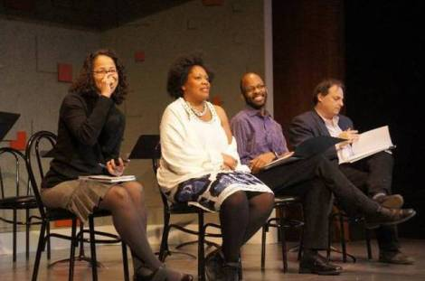 The first public reading, which was presented as part of the Locally Grown Festival. Photo by Batya Feldman.