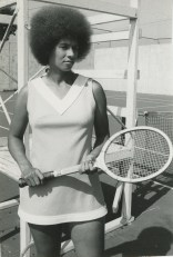Ann Koger, Morgan State '72, became one of the first African Americans to play on the Virginia Slims Tennis Circuit from 1973-1977. Courtesy: Ann Koger