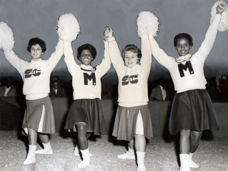 Cheer Co-Captains of University of Maryland Eastern Shore and University of South Carolina, 1961 Courtesy: Afro-American Newspaper