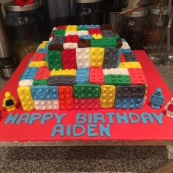 Lego fondant birthday cake for childrens' birthday party