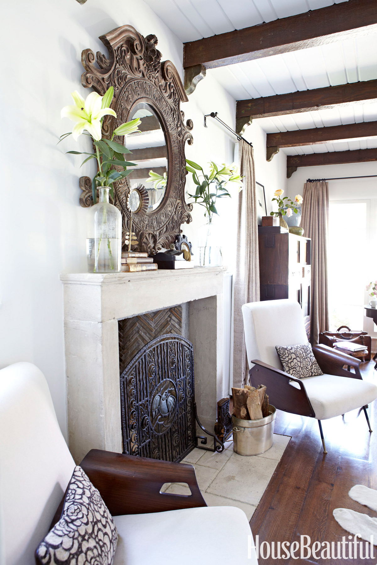 Bungalow Fireplace Mantel Small Los Angeles Bungalow Chris Barrett House