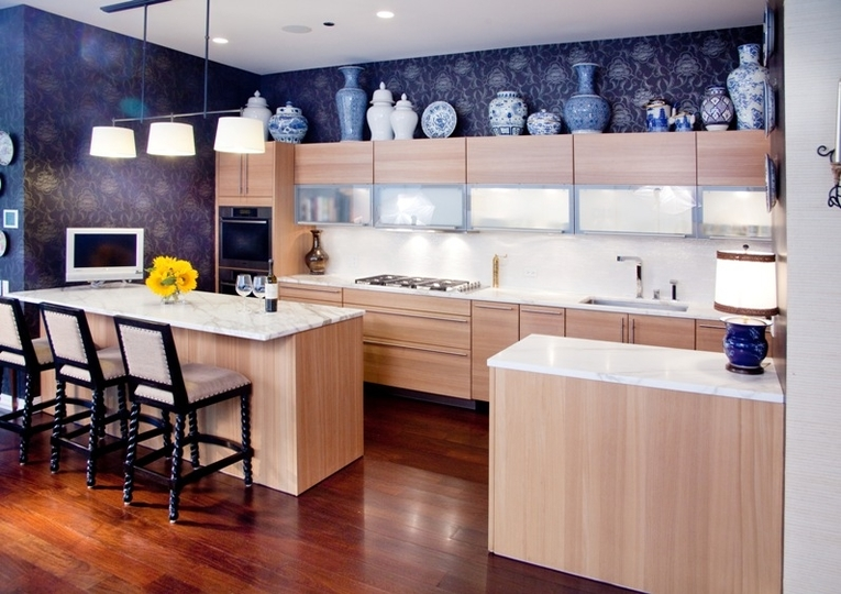 Design Ideas For The Space Above Kitchen Cabinets - Decorating
