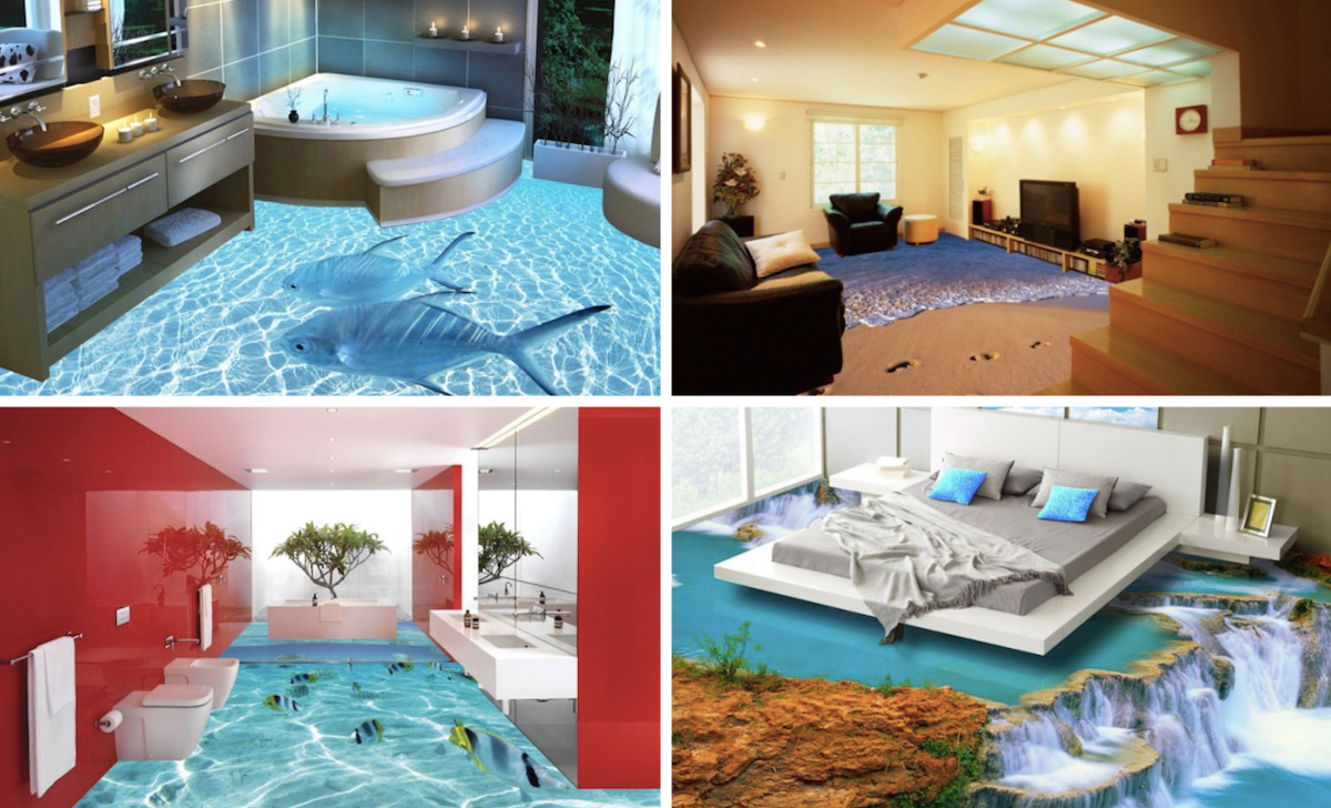 3d Wallpaper For Home Wall India 3d Floors Printed Photo Flooring
