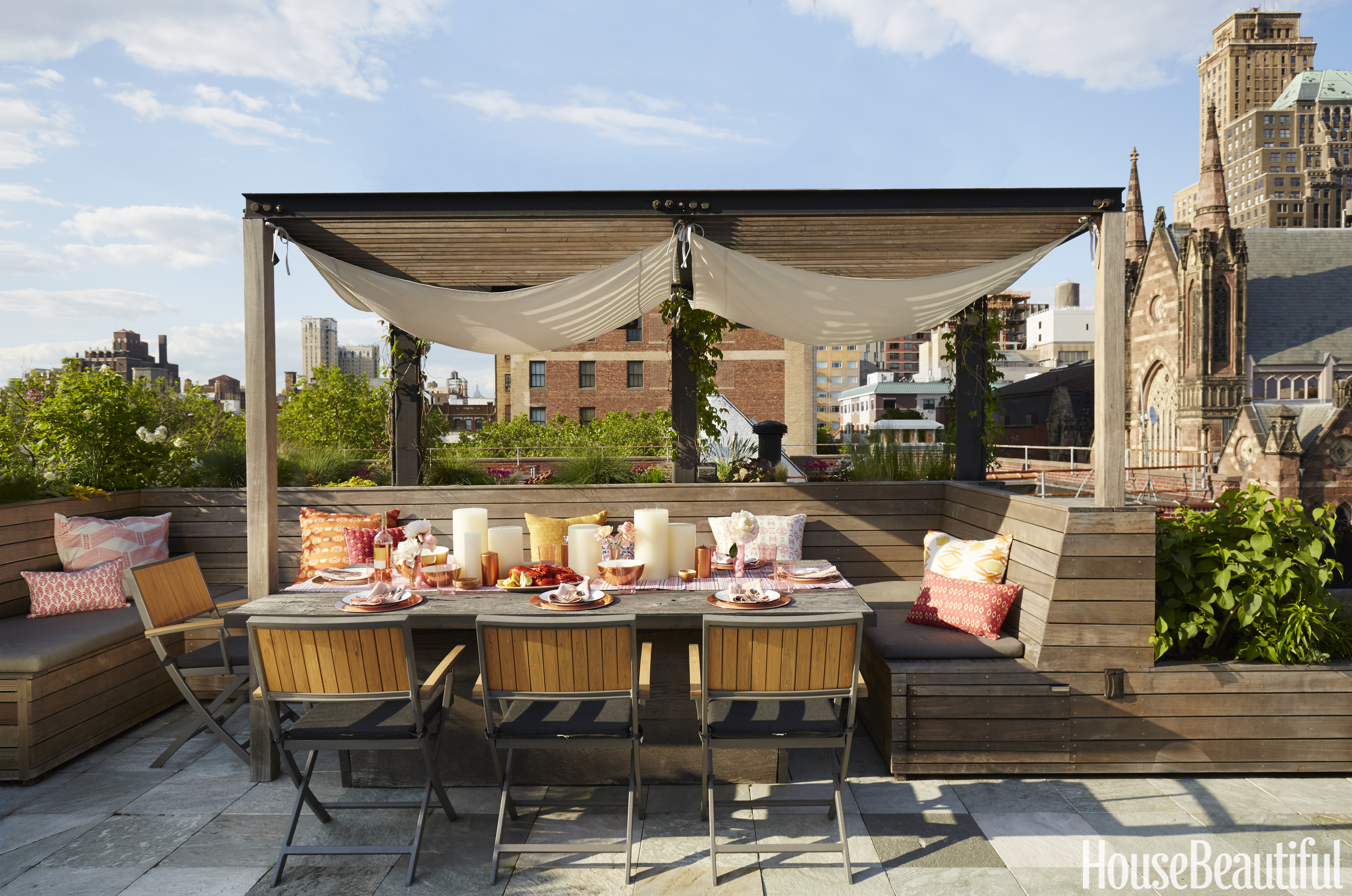 Sun Lounges Brisbane Rooftop Kitchen Outdoor Kitchen In Brooklyn By Laurie