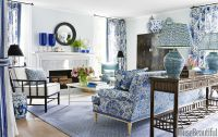 Mark D. Sikes Interior Design - Blue and White House Tour