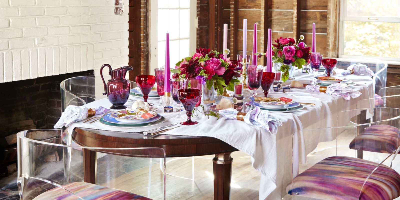 Kindergeburtstag Tischdekoration A Red And Pink Tablescape By Eddie Ross Unusual Table