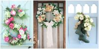 30 Spring Wreaths - Easter & Spring Door Decorations Ideas