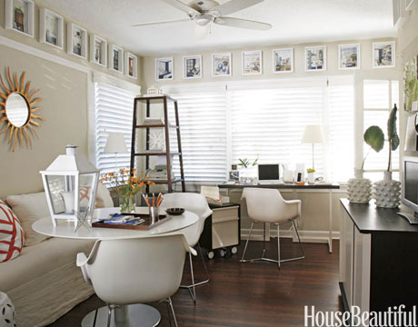 60+ Best Home Office Decorating Ideas - Design Photos of Home - living room office ideas