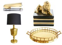 Black and Gold Home Decor - Design Blog Links March 29, 2013