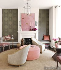 Barry Dixon Interiors of Victorian Row House - Pink and ...