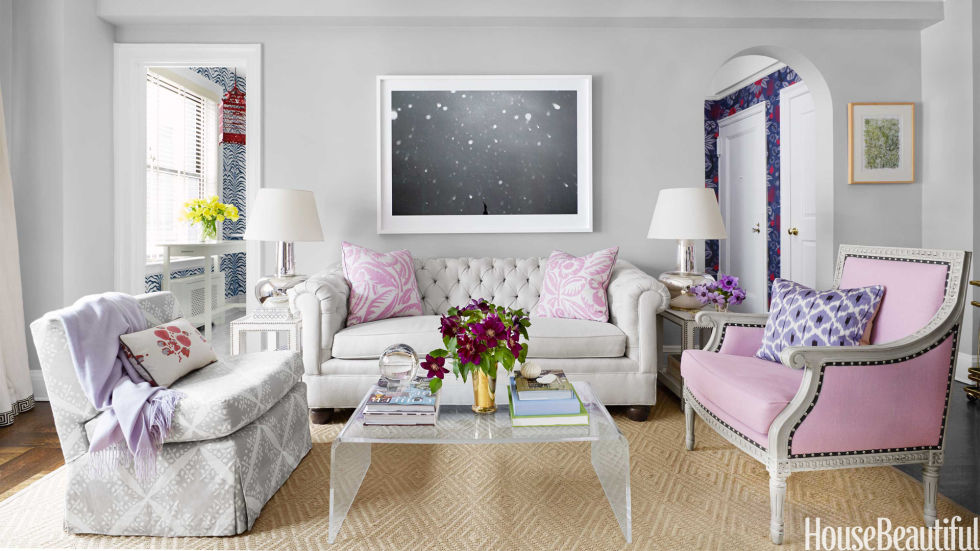 Small NYC Apartment Design - Lavender Decorating Ideas - living room furniture nyc
