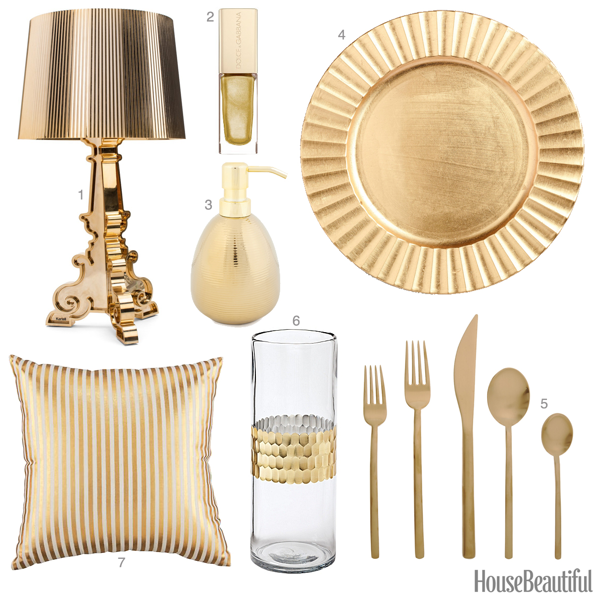 Home Accessoires Light Gold Accessories Light Gold Home Decor