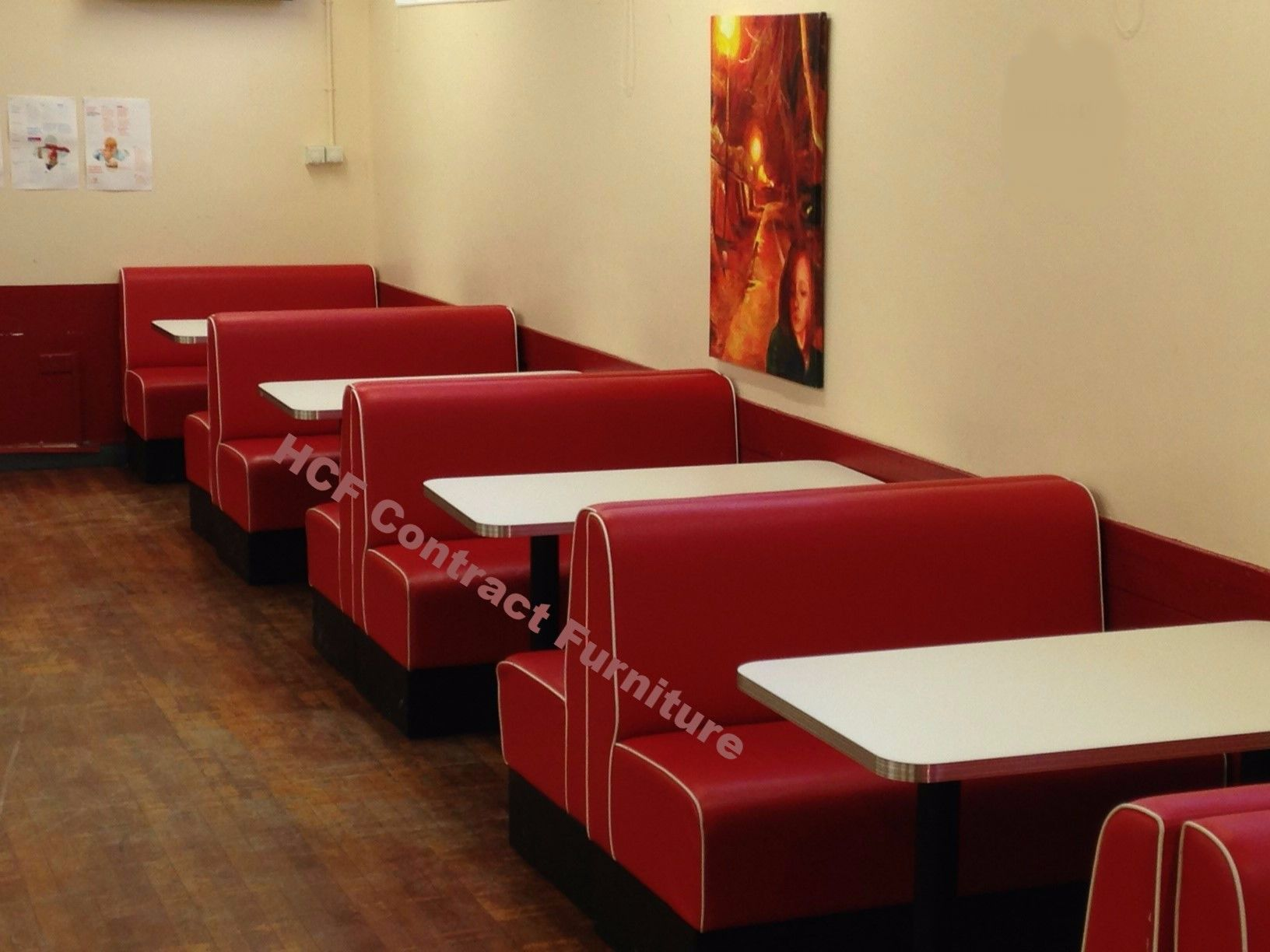 Sofa Cafe Restaurant Upholstered Restaurant Booths Fixed Bench Bar Seating