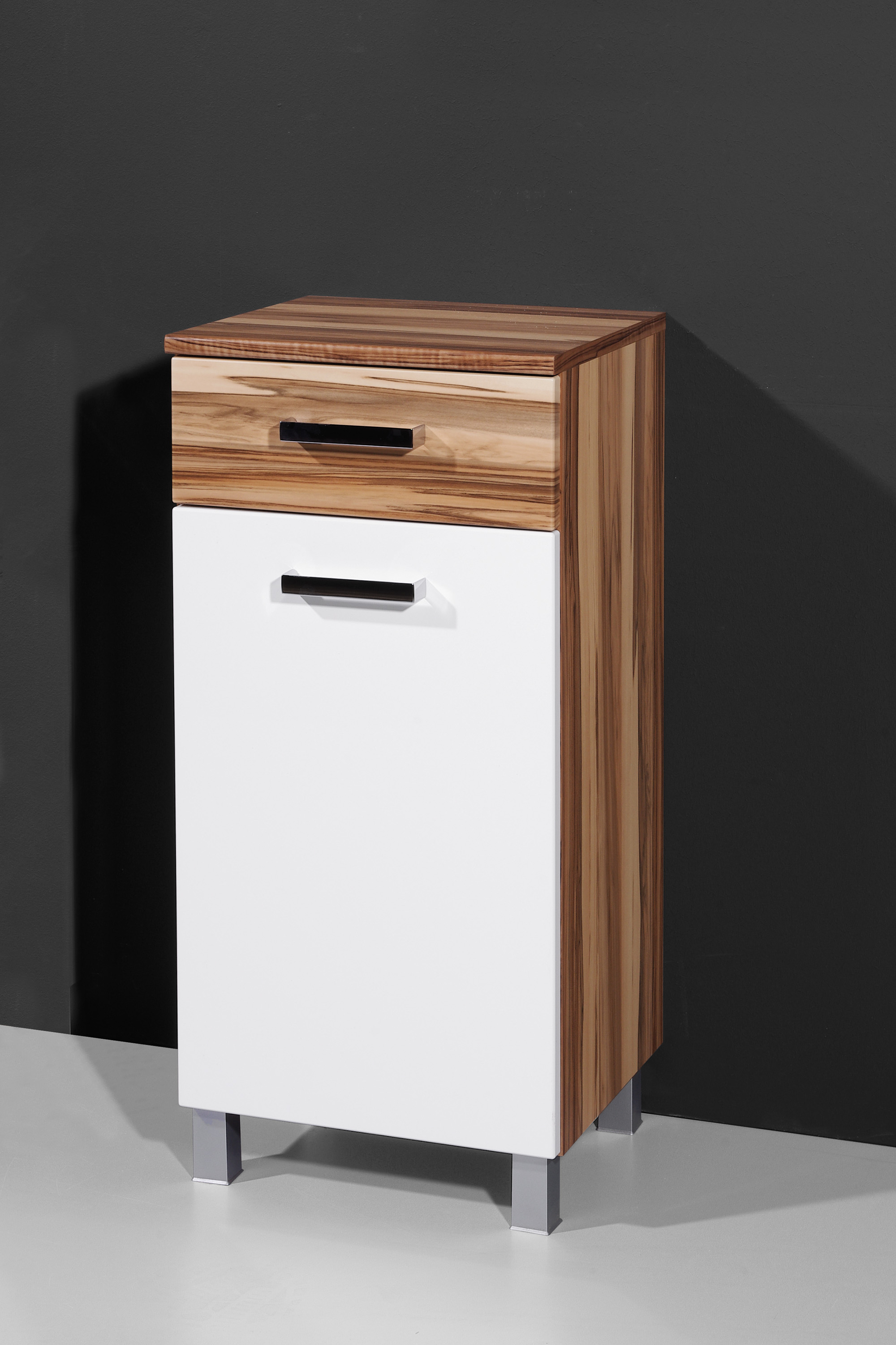 Baltimore Walnuss Kommode Badkommode Badmöbel Kommode Seitenschrank B082 3 Baltimore