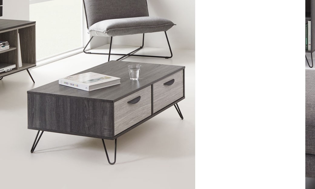 Table Bois Gris Moderne Table Basse Moderne Couleur Bois Gris Dustin