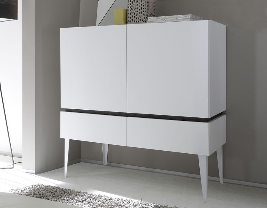Meuble Tv Led Fly Buffet Salon Blanc Laque. Good Blanc With Buffet Salon