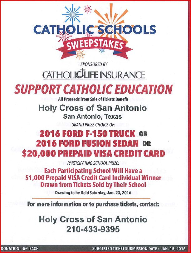 CATHOLIC LIFE RAFFLE TICKETS-NOW AVAILABLE \u2013 HC Blog - raffle ticket prizes