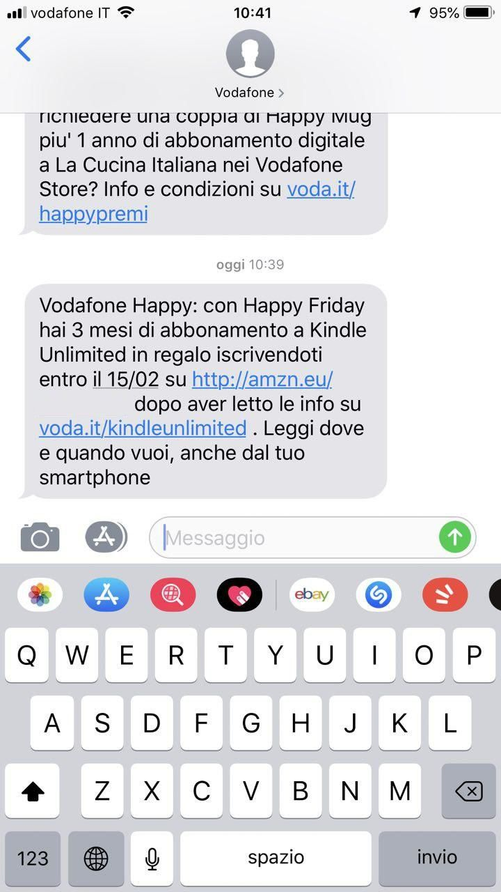 Voda.it/cucina Italiana Vodafone Happy Friday In Regalo 3 Mesi Di Abbonamento A Kindle