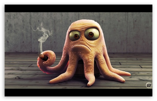 Blender 3d Wallpaper Angry Octopus 4k Hd Desktop Wallpaper For 4k Ultra Hd Tv