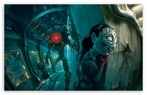 Little Girl Desktop Wallpaper Bioshock 2 The Sisters 4k Hd Desktop Wallpaper For 4k