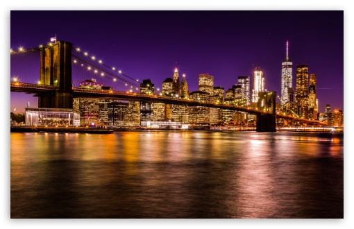 New York Iphone Wallpaper Brooklyn Bridge At Night Hd Desktop Wallpaper High