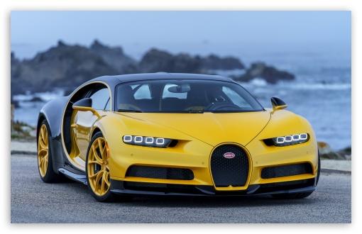 3440x1440 Car Wallpaper Bugatti Chiron 2018 Yellow 4k Hd Desktop Wallpaper For 4k