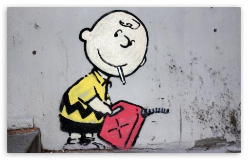 Sick Iphone 4 Wallpapers Charlie Brown Peanuts Graffiti 4k Hd Desktop Wallpaper For