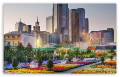 Downtown Dallas From The Flower Market 4K HD Desktop Wallpaper for 4K Ultra HD TV • Wide & Ultra ...